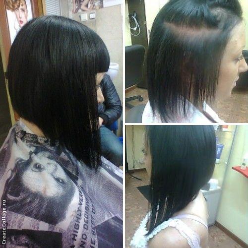 Каре наращивание волос