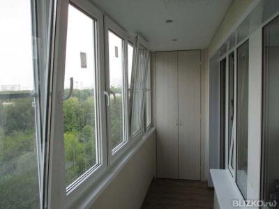 Остекление балкона в одно стекло, размер 1400*3000мм в тюмен.