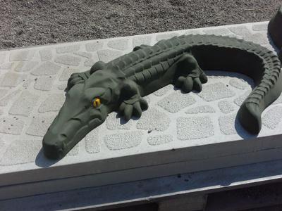 Крокодил бетон чем отмыть цементный раствор с плитки тротуарной