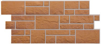 Фасадные (цокольные) панели Döcke-R под крупный камень, цвет Кукурузный